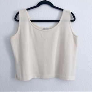 St John ivory knit sleeveless top